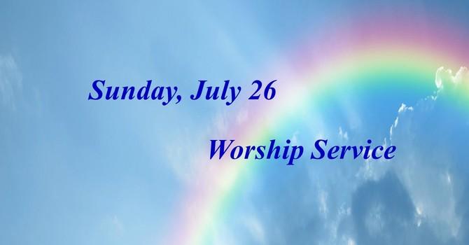 Sunday July 26 Worship Service image