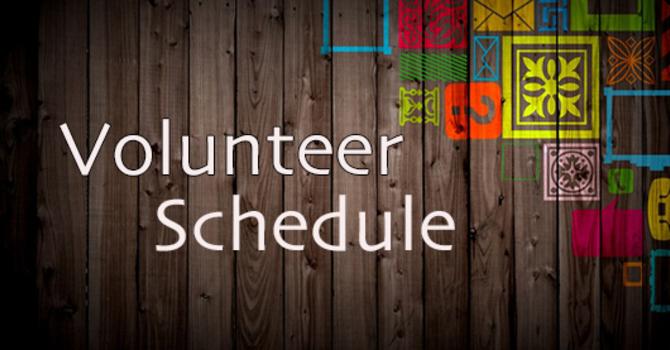**Updated** October Volunteer Schedule