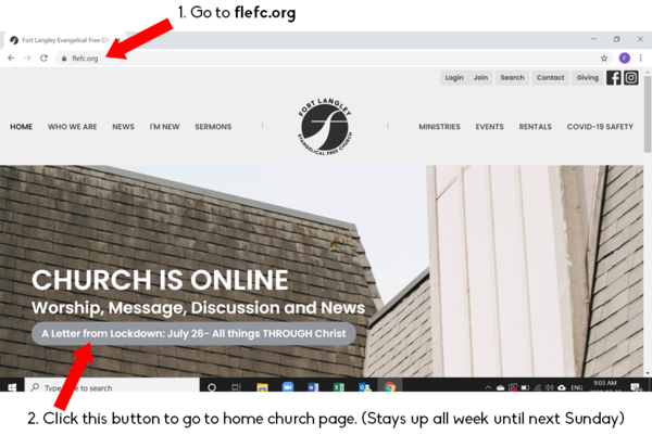 Home Church Page and Office Hours