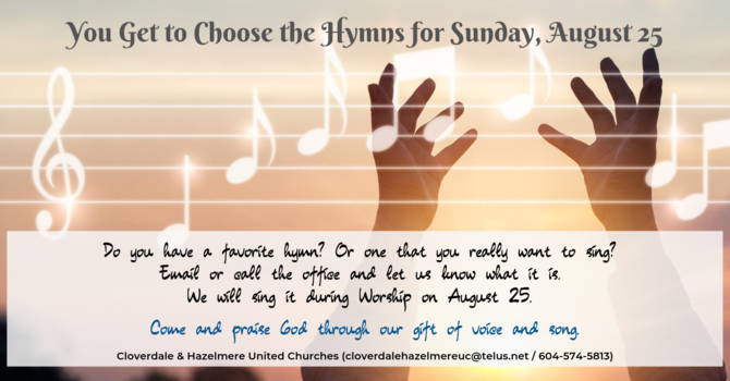 You Get to Choose the Hymns Sunday image