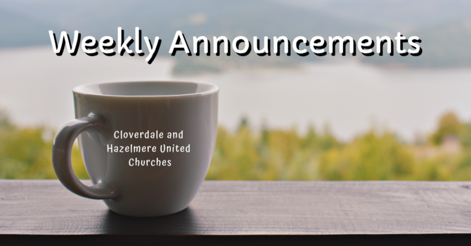 Announcements for March, 2019 image