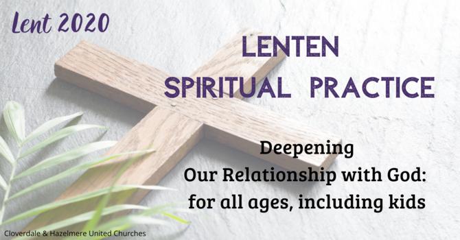 2020 Lenten Spiritual Practice  image