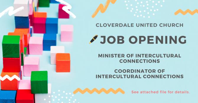Job Opening - Intercultural Ministry image