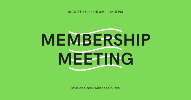 Membership Meeting image