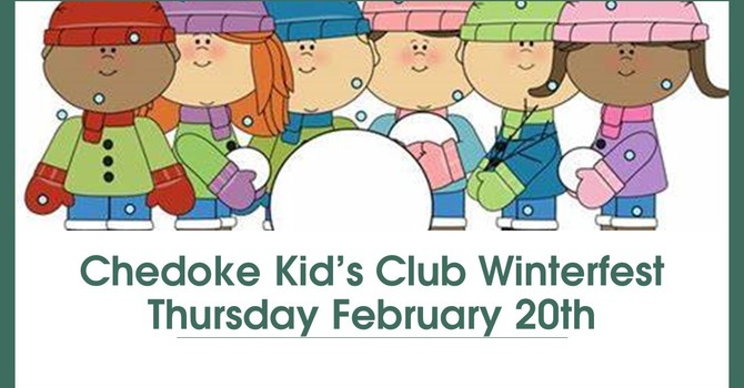 "Kid's Club  ""Winterfest"" ~ Thurs. Feb. 20, 2020 image"