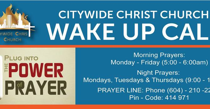 CCC Daily Prayer Call