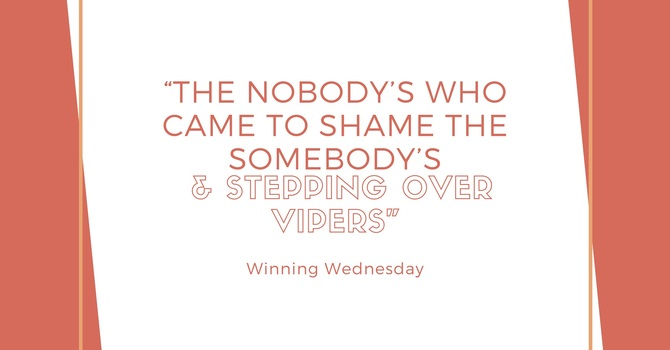 """""""The Nobody's Who Came to Shame The Somebody's  & Stepping Over Vipers"""""""