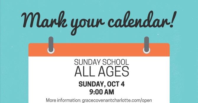 Schedule Change: Sunday School image