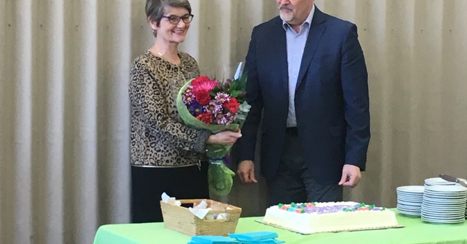 Farewell to our Interim Pastor Joan DeVries image