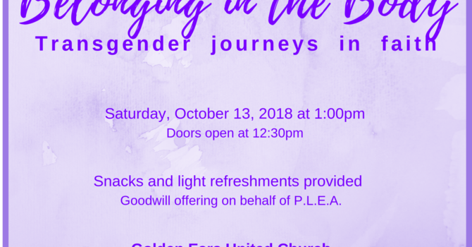 Belonging in the Body: Transgender Journeys in Faith image
