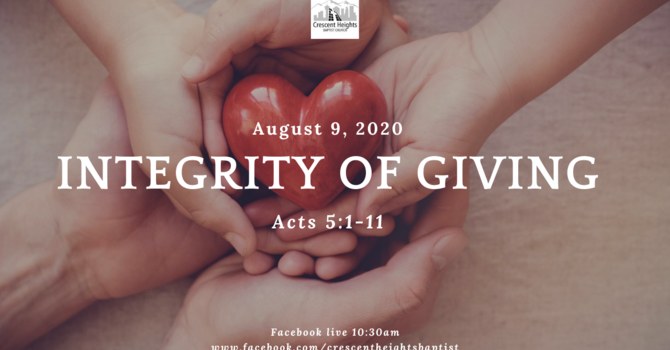 Integrity of Giving