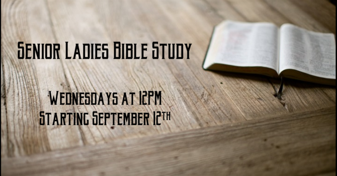 Senior Ladies Bible Study