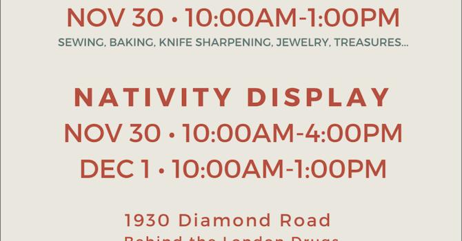 Bazaar and Nativity Display image