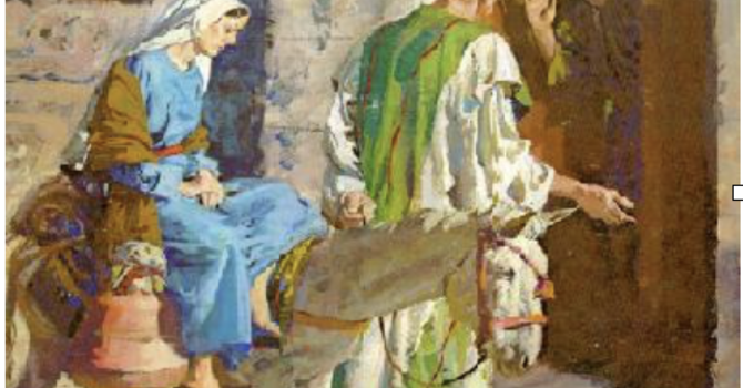 Mary and Joseph Advent Exercise image