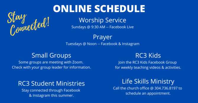 RC3 Weekly Online Schedule image