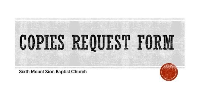 Copies Request Form