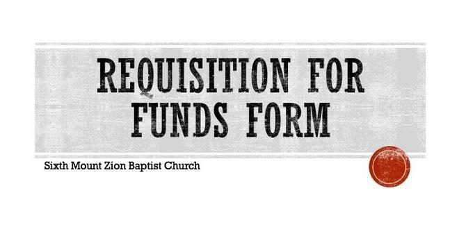 Requisition Form