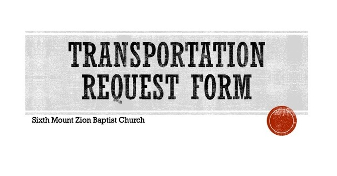 Transportation Request Form