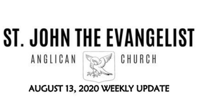 Weekly Update - August 13, 2020 image