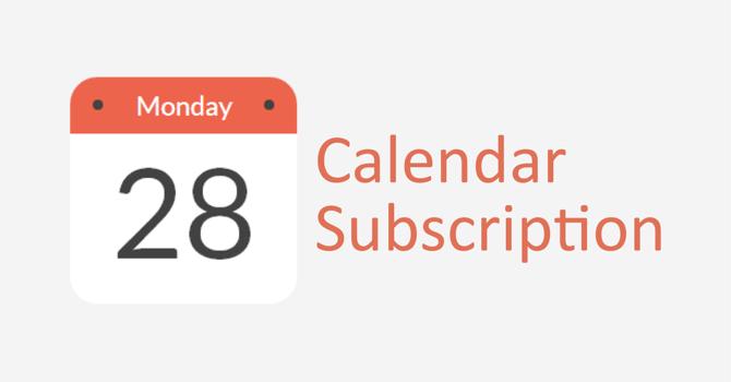 Calendar Subscription image