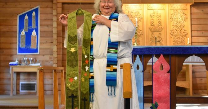 Significant stoles steal celebrant's heart! image
