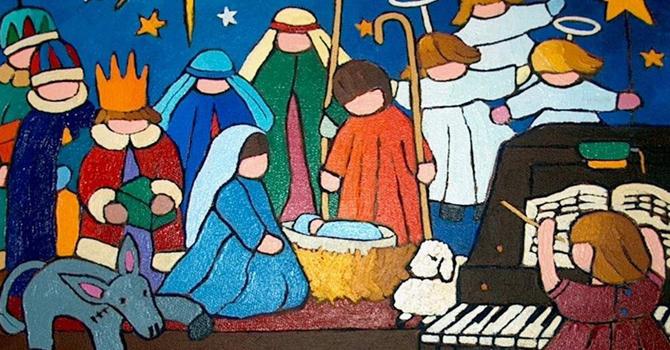 Christmas morning message image