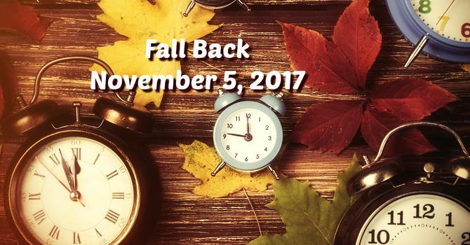 Set those clocks back! image