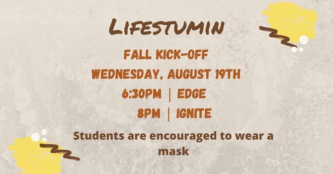 Lifestumin Fall Kick-Off