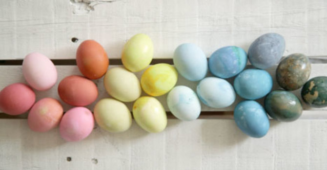 Easter Eggs in the Colours of the Rainbow