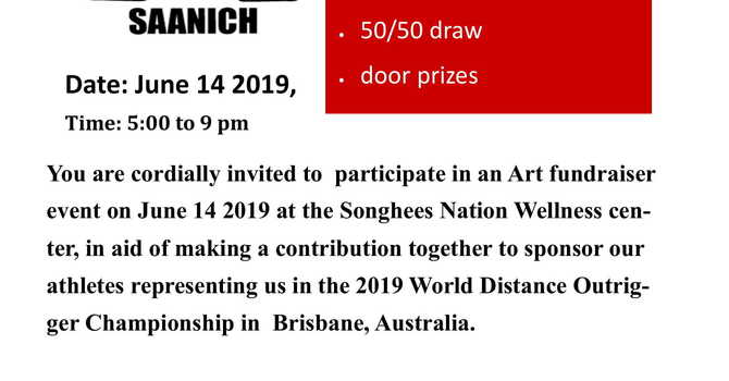 Songhees Nation Art Auction Invitation image