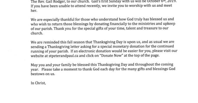 Thanksgiving Letter image