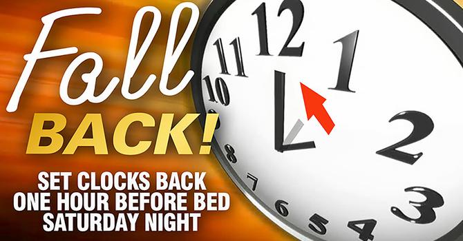 DST Ends - Falling Back one hour Nov 3rd  image