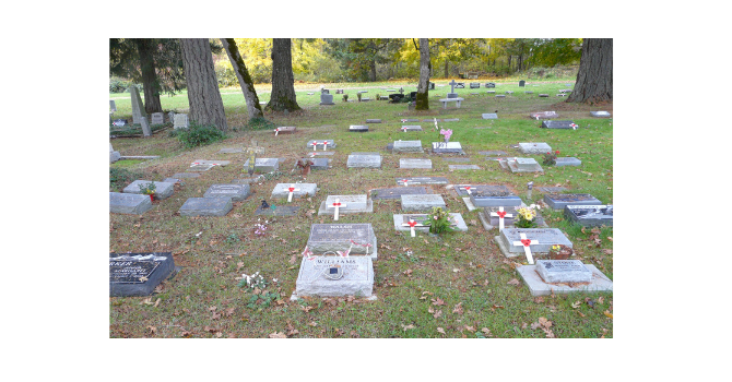 10th ANNUAL VETERAN CEMETERY TOUR, TEA AND DISPLAY image
