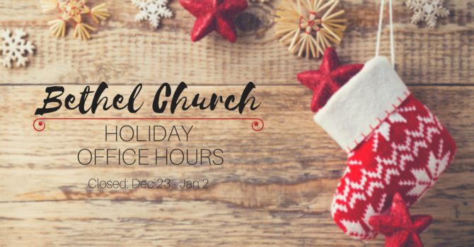 Holiday Office Hours image
