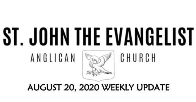 Weekly Update - August 20, 2020 image