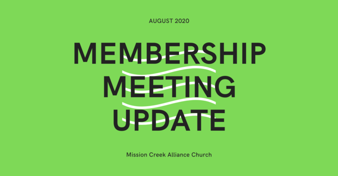Membership Meeting Update image