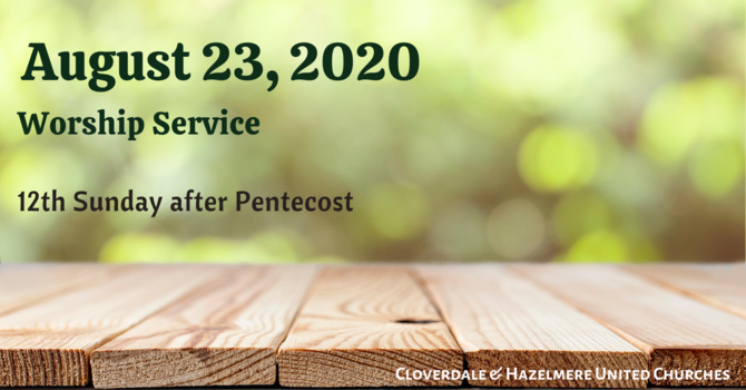 August 23, 2020 Worship Service image