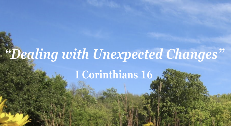 Dealing with Unexpected Changes