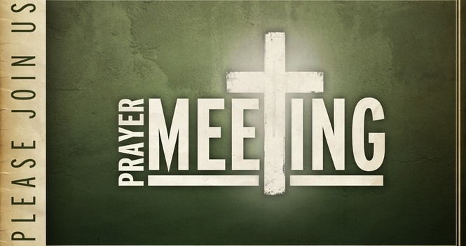 Wednesday Evening Prayer Meeting (via Zoom)