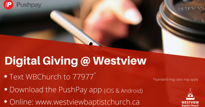 Giving at Westview image