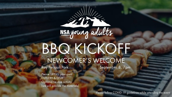 Young Adults Kick off BBQ