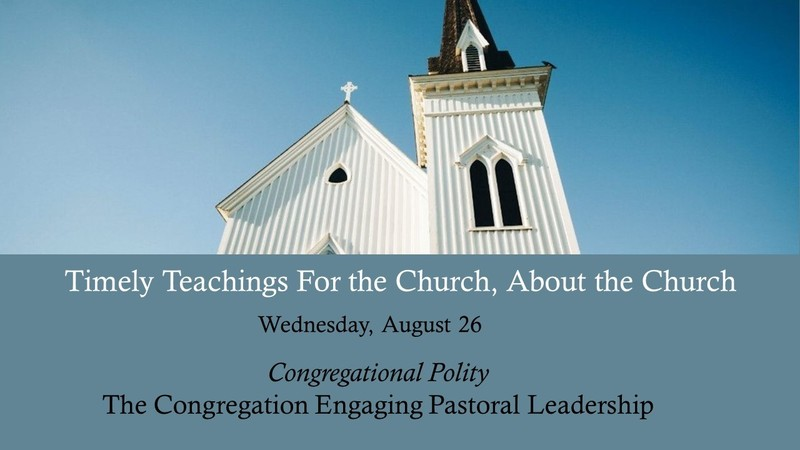The Congregation Engaging Pastoral Leadership