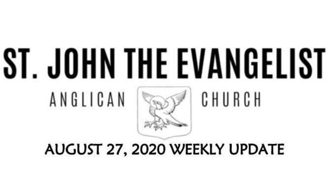 Weekly Update - August 27, 2020 image