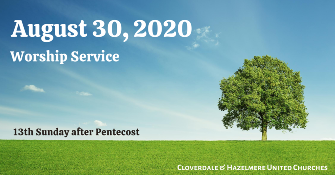 August 30, 2020 Worship Service image