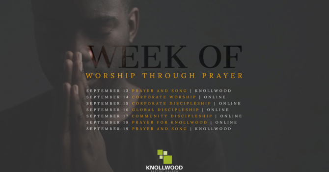 Week of Worship Through Prayer image