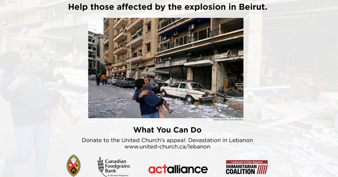 United Church Appeal for the Devastation in Lebanon image