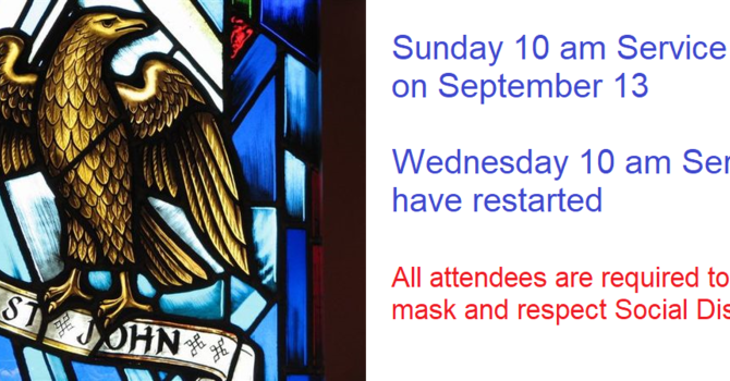 Sunday Service - Restarting September 13
