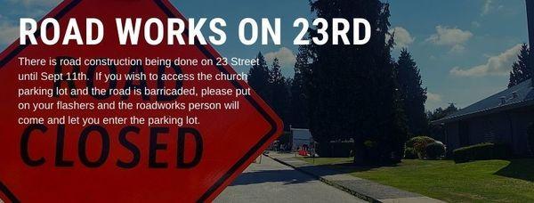 Road Works on 23rd Street until September 11th