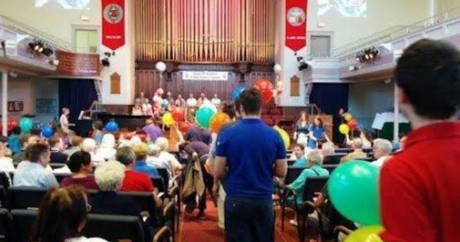 Congregational attendance at Sunday worship services
