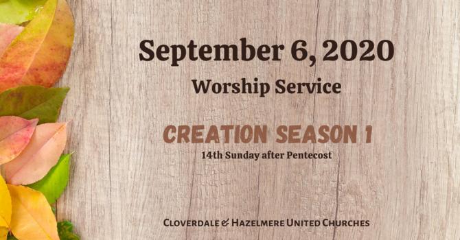 September 6, 2020 Worship Service image